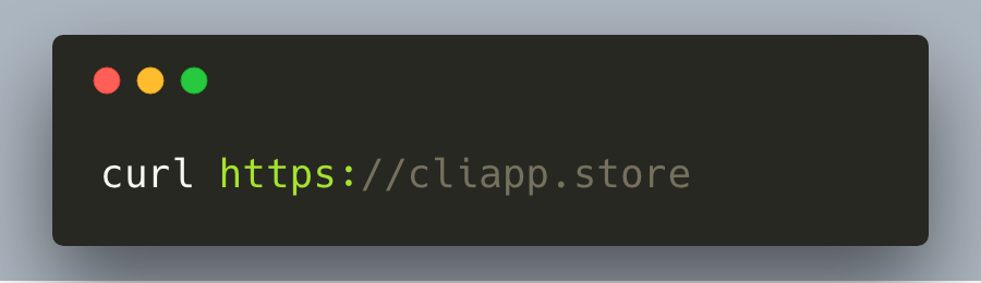 Screenshot of CLI app Curl