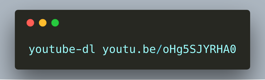 Screenshot of CLI app Youtube Dl
